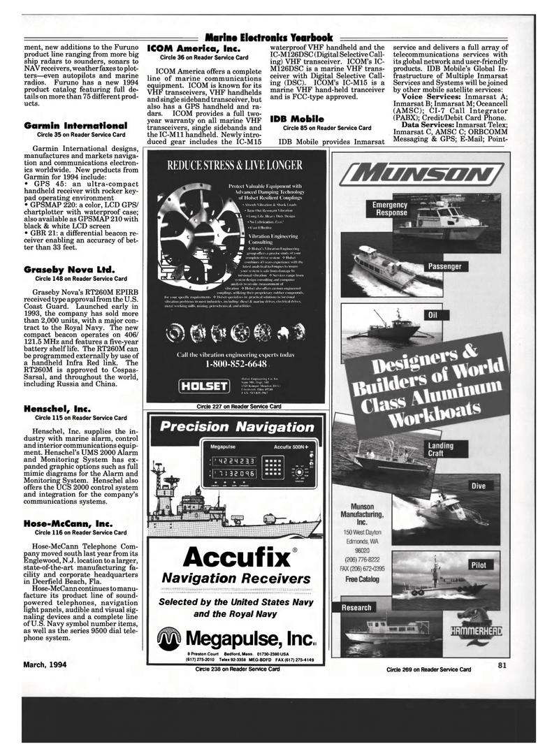 Maritime Reporter Magazine, page 79,  Mar 1994 Florida