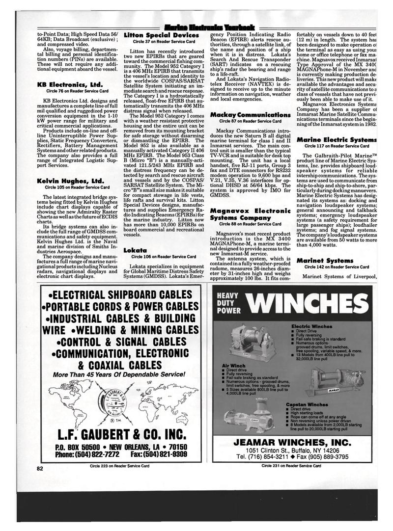 Maritime Reporter Magazine, page 80,  Mar 1994 V.35