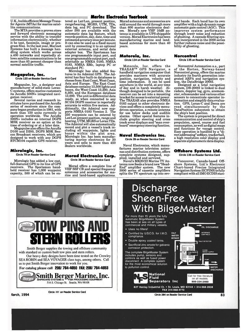 Maritime Reporter Magazine, page 81,  Mar 1994 Corrosion Protection