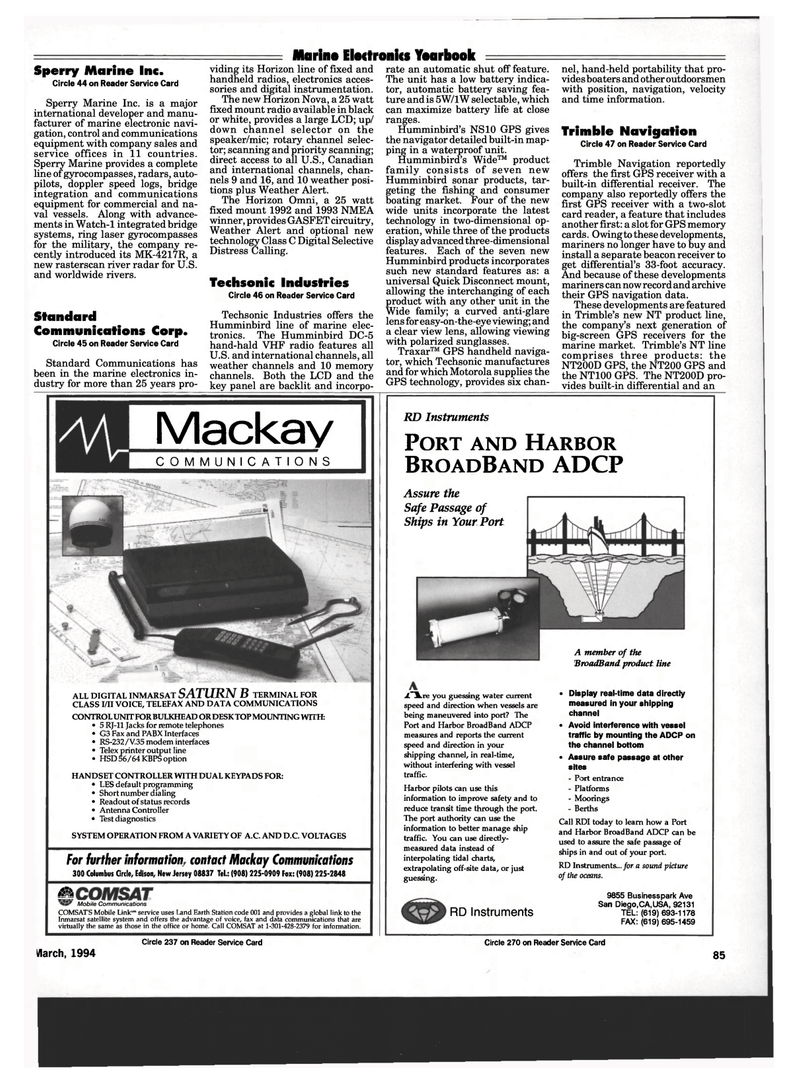Maritime Reporter Magazine, page 83,  Mar 1994 V.35