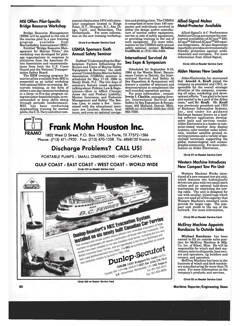 Maritime Reporter Magazine, page 88,  Mar 1994 east coast