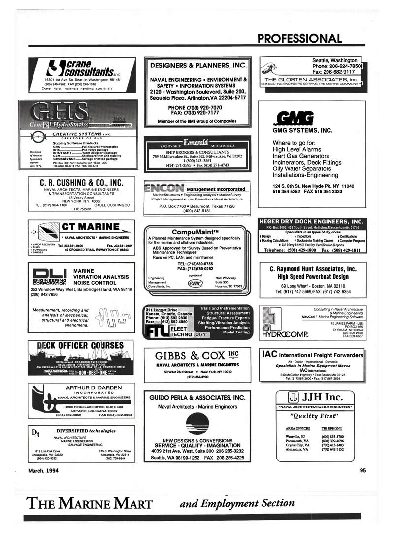 Maritime Reporter Magazine, page 93,  Mar 1994 Louisiana