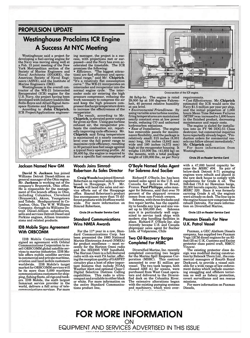 Maritime Reporter Magazine, page 94,  Mar 1994 Craig Woods