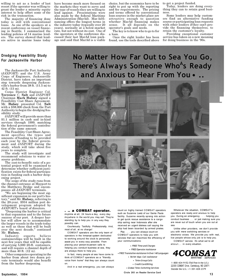 Maritime Reporter Magazine, page 11,  Sep 1994 United States Army