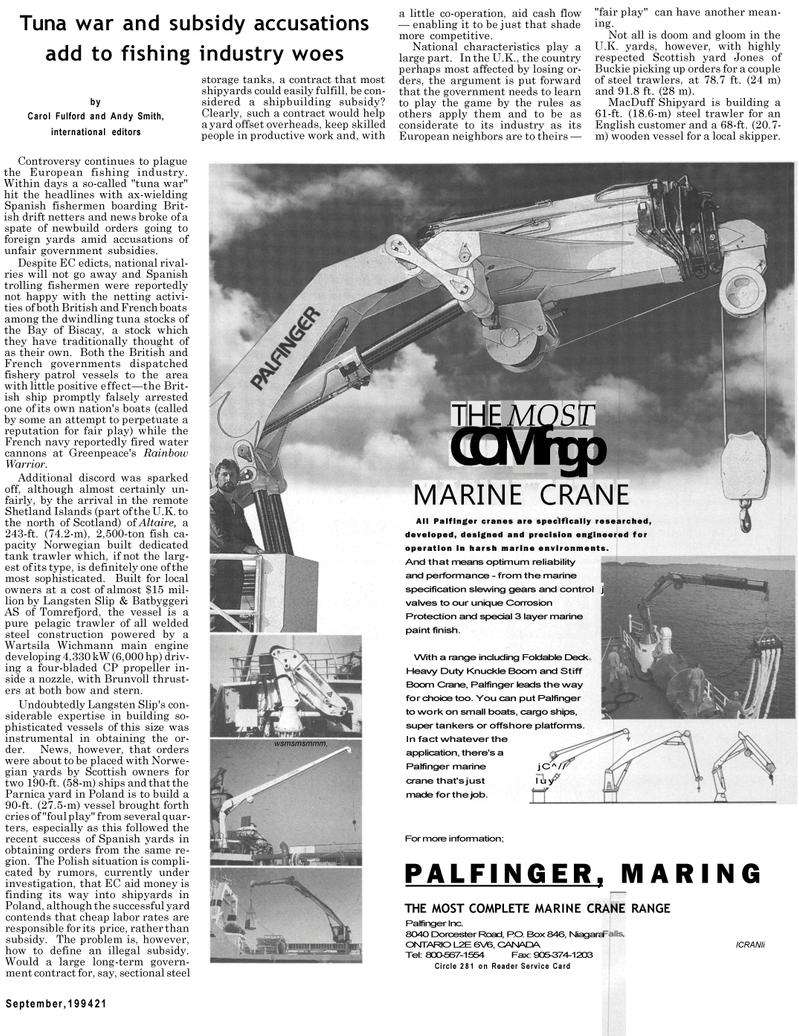 Maritime Reporter Magazine, page 19,  Sep 1994 Carol Fulford