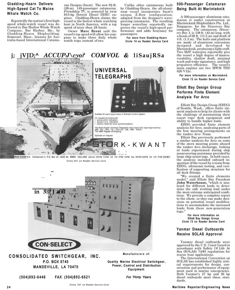 Maritime Reporter Magazine, page 22,  Sep 1994 Louisiana