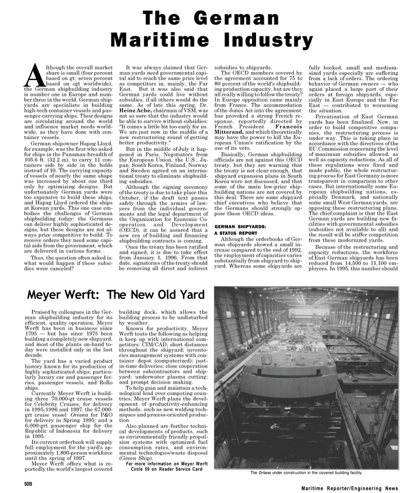 Maritime Reporter Magazine, page 28,  Sep 1994 Organization for Economic Co