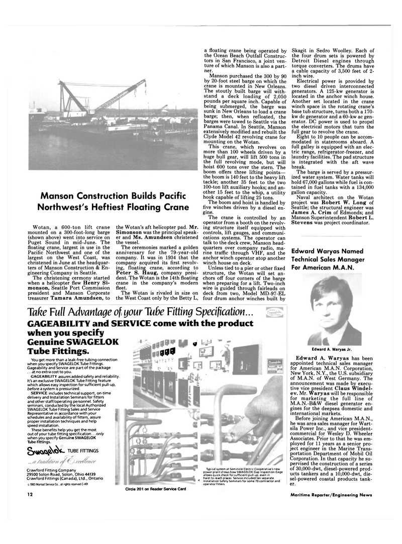 Maritime Reporter Magazine, page 10,  Sep 15, 1994 MD-97