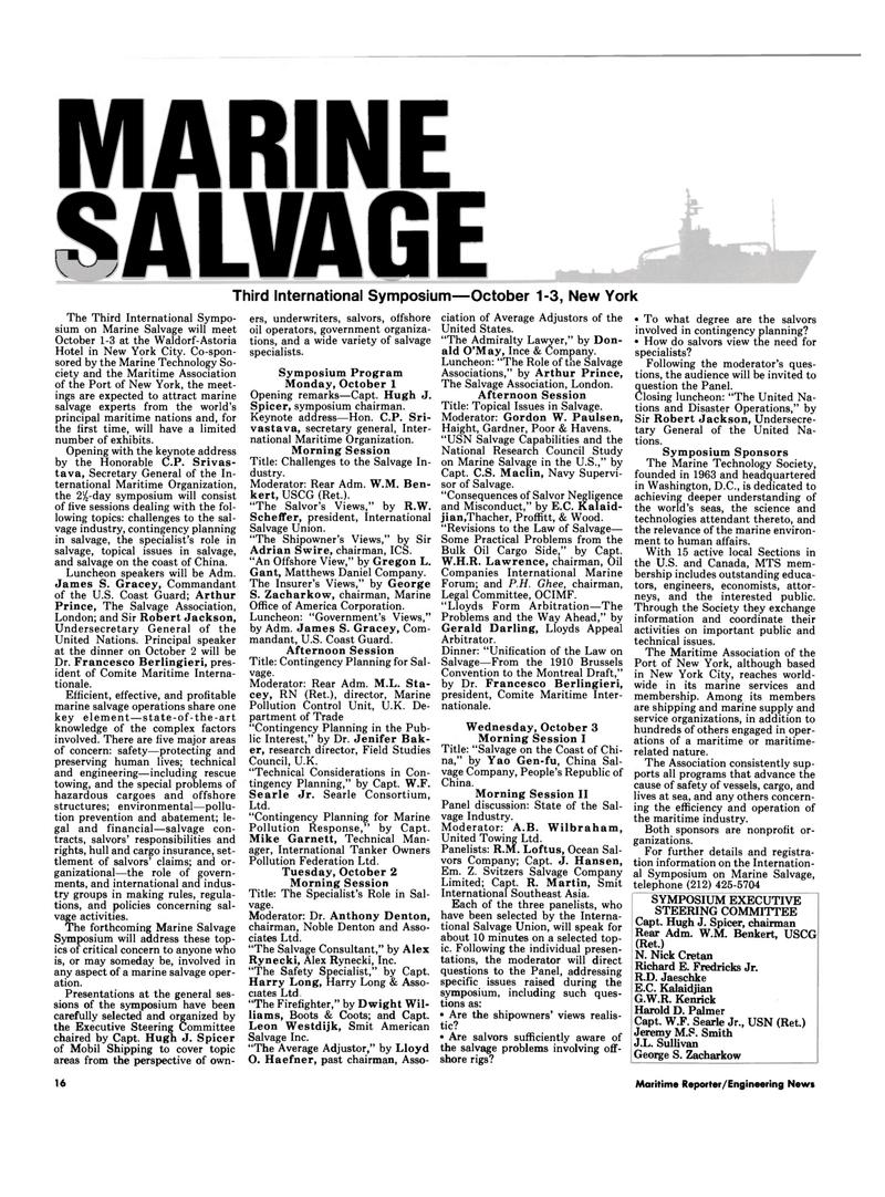 Maritime Reporter Magazine, page 14,  Sep 15, 1994 R.W. Scheffer