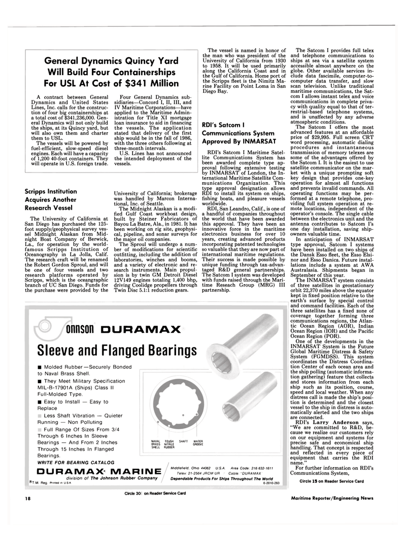 Maritime Reporter Magazine, page 16,  Sep 15, 1994 Indian Ocean