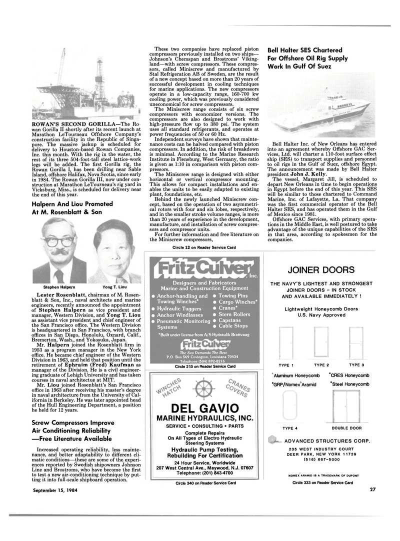 Maritime Reporter Magazine, page 25,  Sep 15, 1994 Construction Equipment
