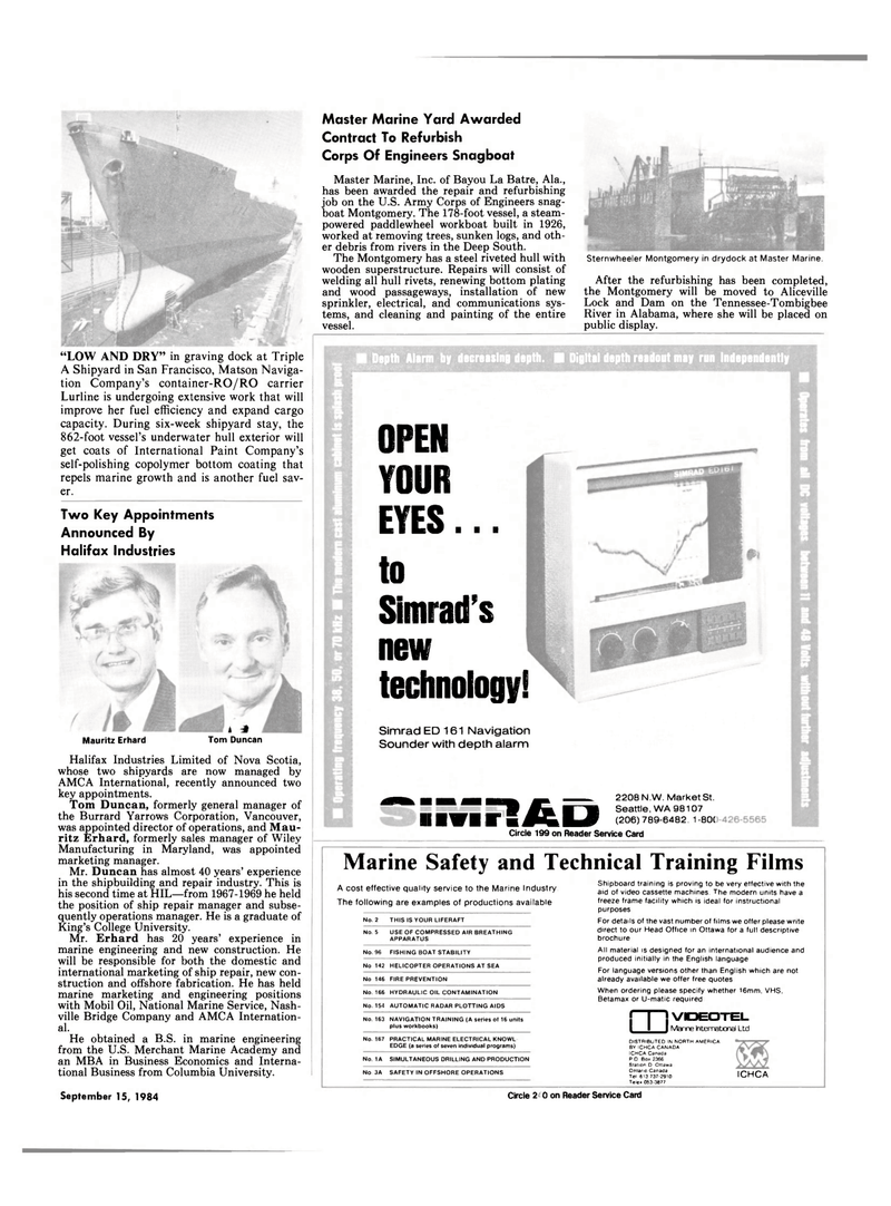 Maritime Reporter Magazine, page 5,  Sep 15, 1994 Maryland