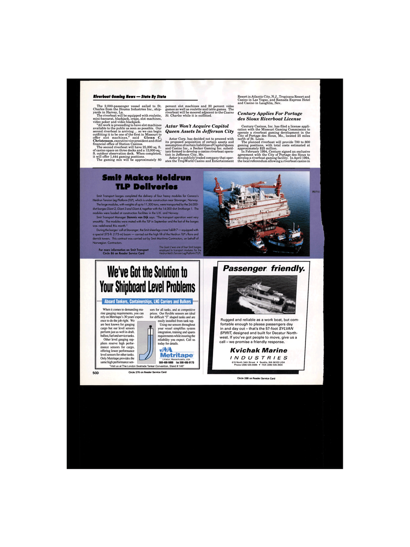 Maritime Reporter Magazine, page 56,  Jan 1995 Nevada