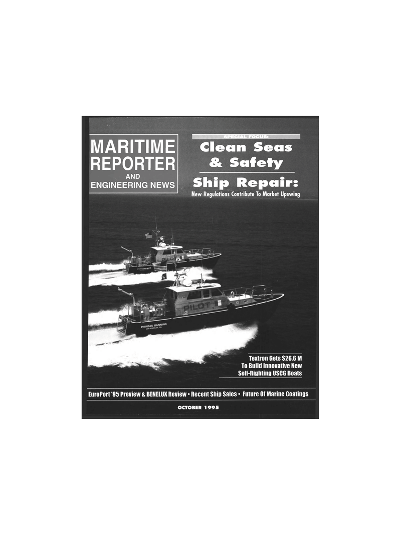 Maritime Reporter Magazine Cover Oct 1995 -