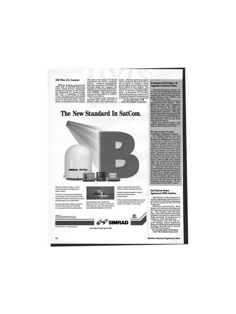 Maritime Reporter Magazine, page 8,  Oct 1995