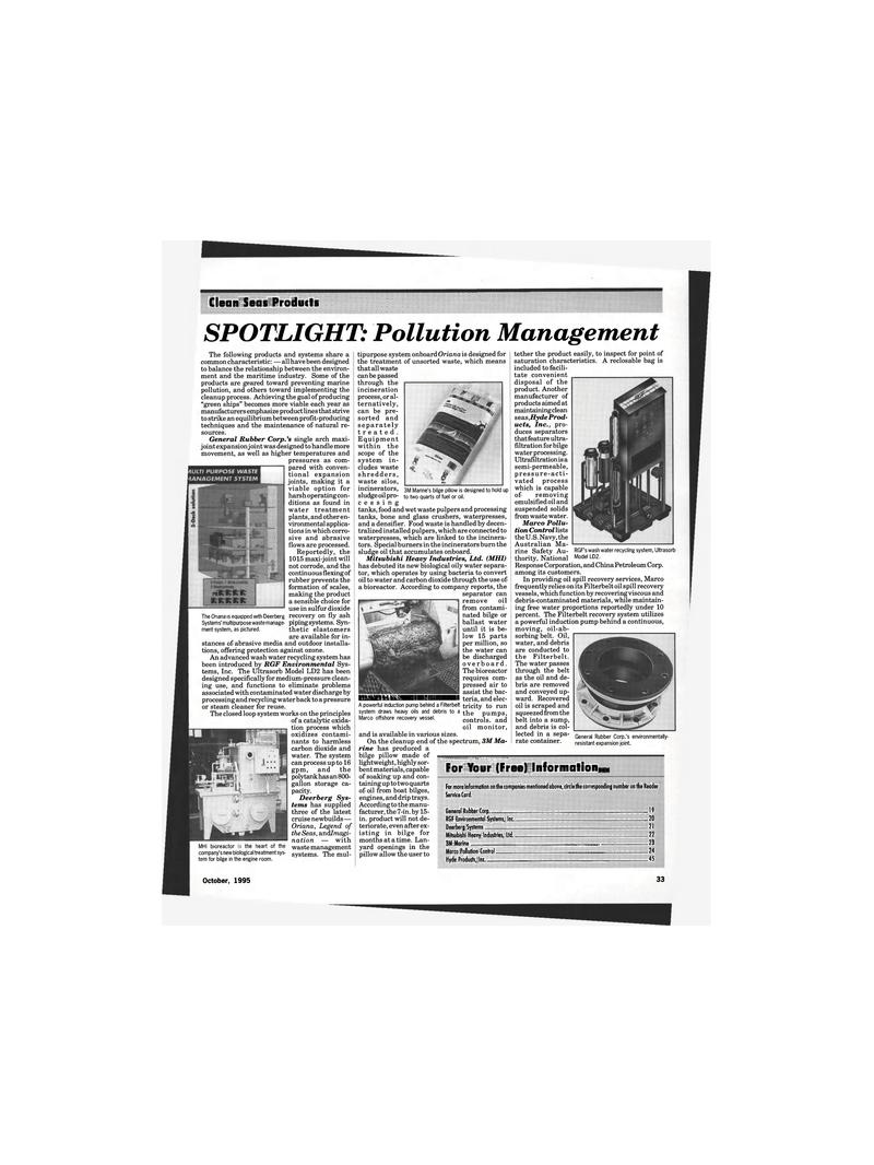 Maritime Reporter Magazine, page 31,  Oct 1995
