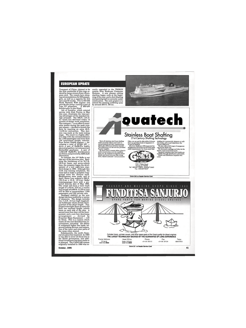 Maritime Reporter Magazine, page 39,  Oct 1995