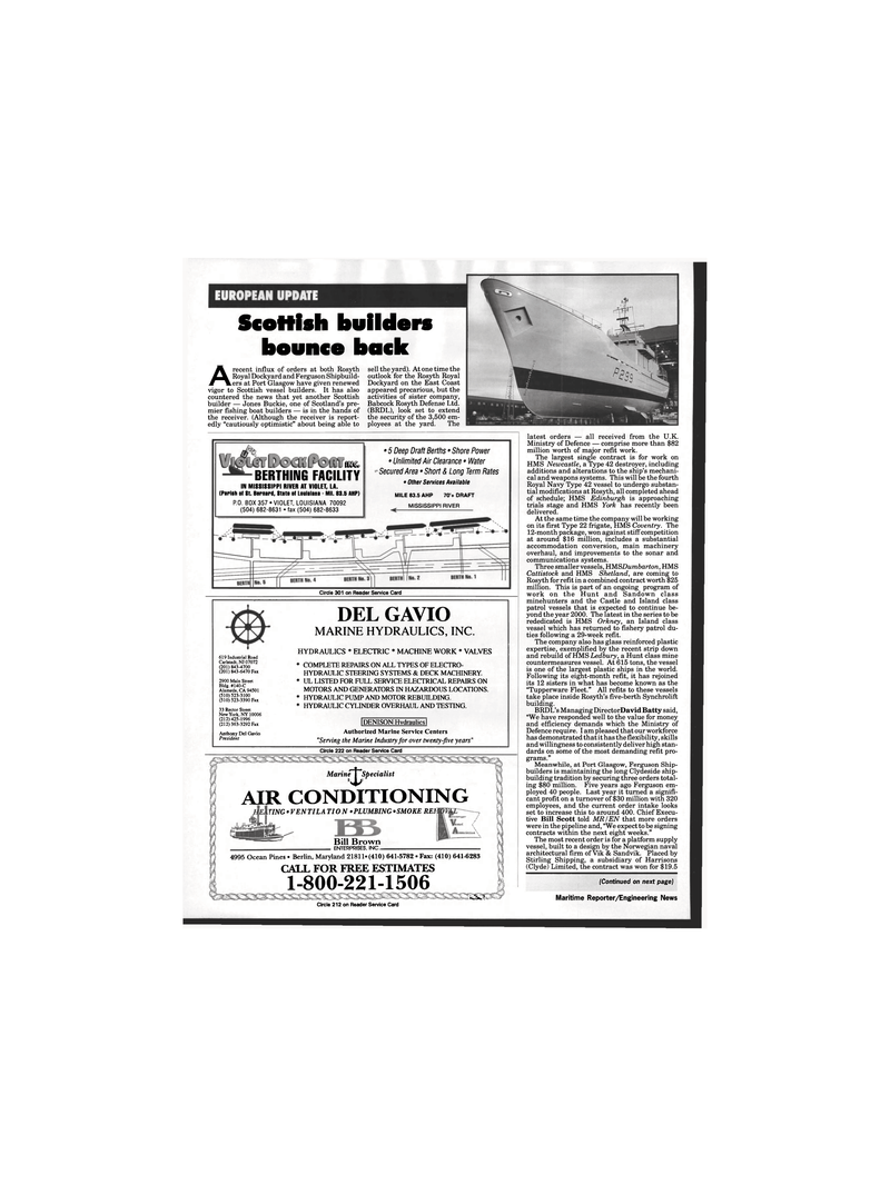 Maritime Reporter Magazine, page 40,  Oct 1995 California