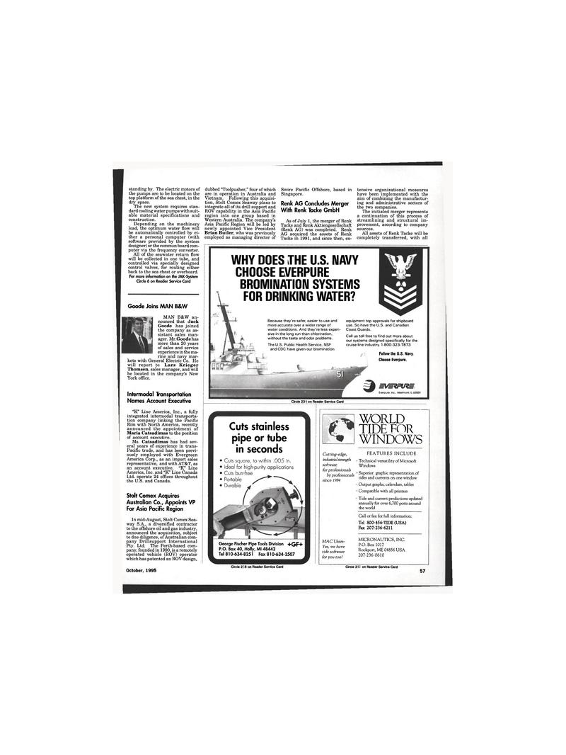 Maritime Reporter Magazine, page 55,  Oct 1995 Maine