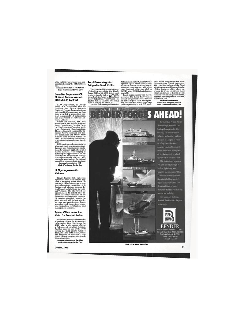 Maritime Reporter Magazine, page 69,  Oct 1995 Virginia