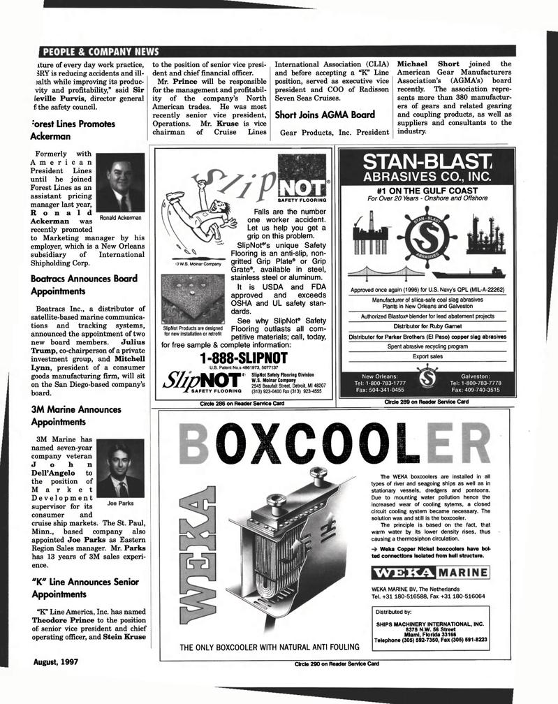 Florida, Maritime Reporter Magazine August 1997 #105