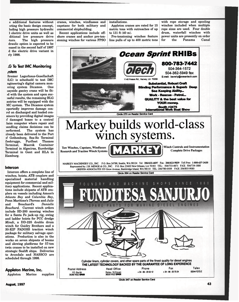 Maritime Reporter Magazine, page 43,  Aug 1997 boxes