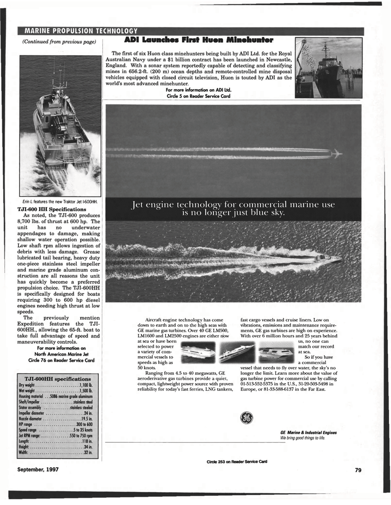 marine propulsion technology, Maritime Reporter Magazine