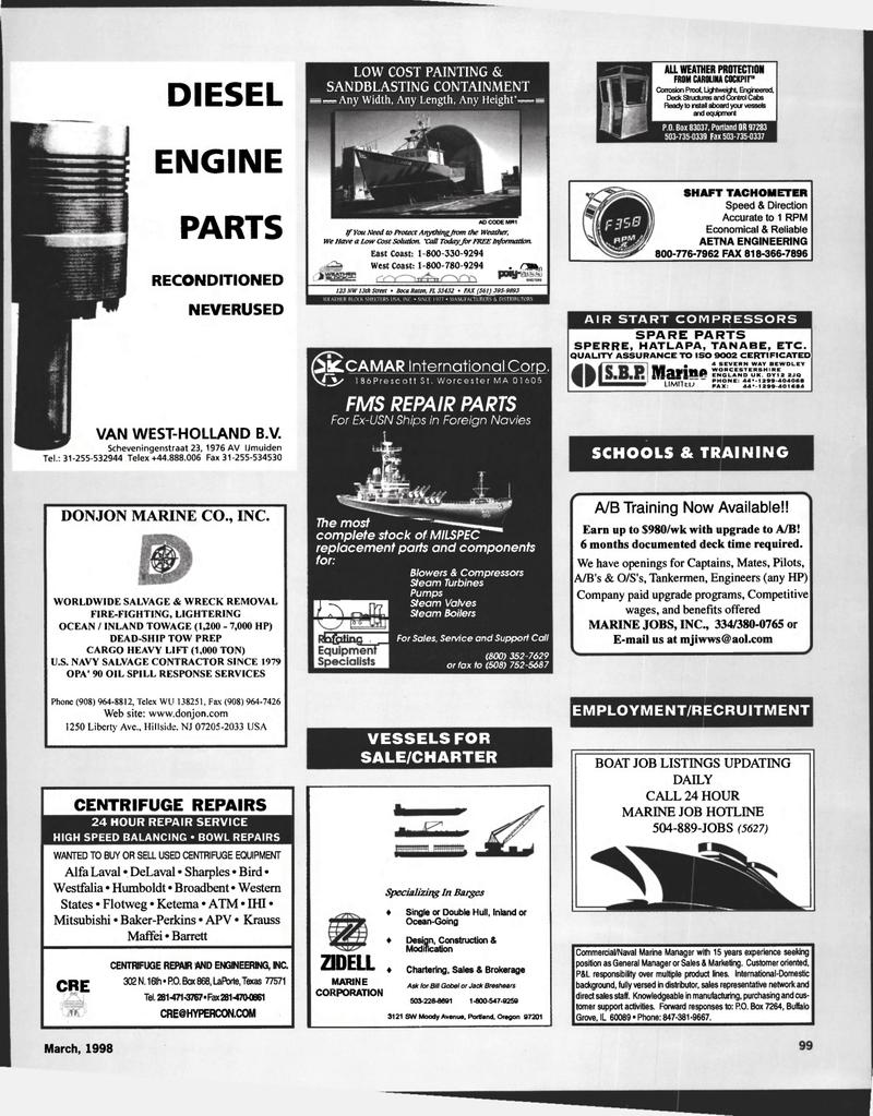 ATM, Maritime Reporter Magazine March 1998 #99