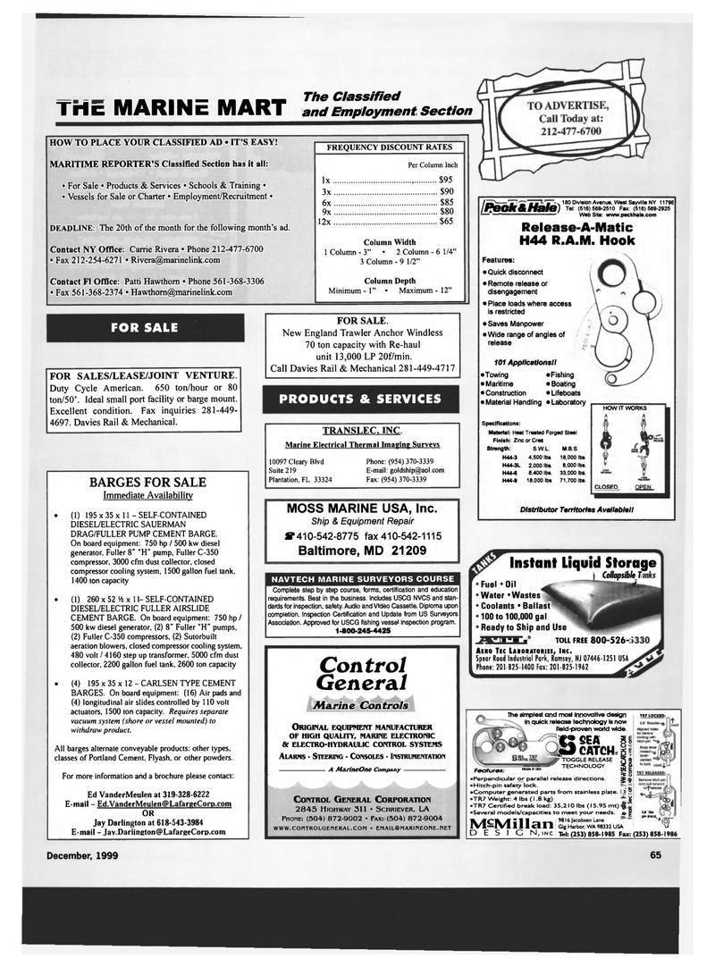 aeration, Maritime Reporter Magazine December 1999 #65