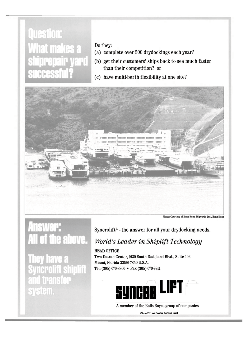 Maritime Reporter Magazine, page 9,  Mar 2000 Hong Kong Shipyards Ltd.