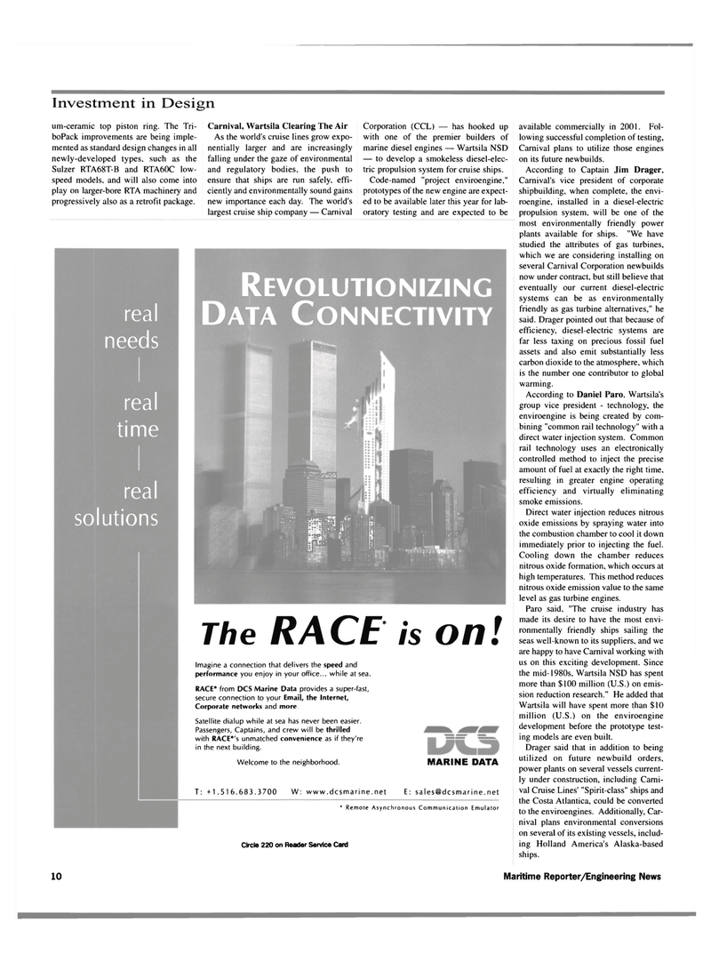 Maritime Reporter Magazine, page 10,  Mar 2000 gas turbines