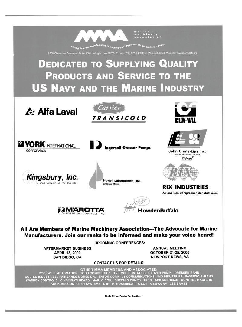 Maritime Reporter Magazine, page 11,  Mar 2000 California
