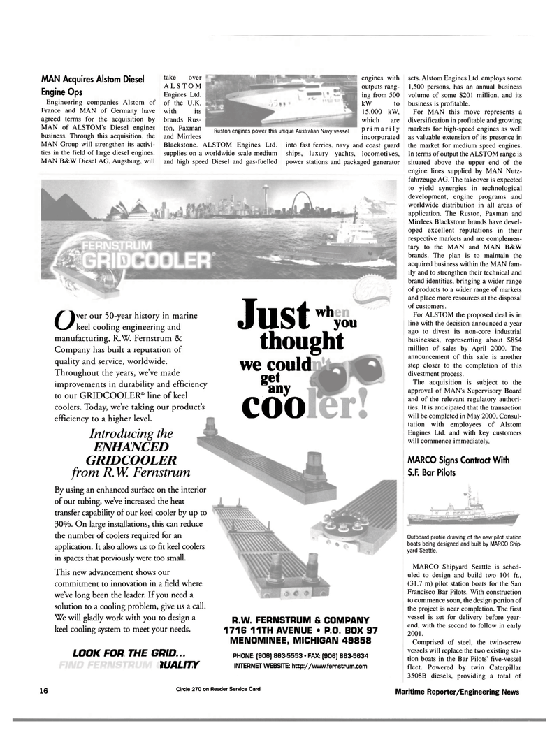 Maritime Reporter Magazine, page 16,  Mar 2000 Australian Navy