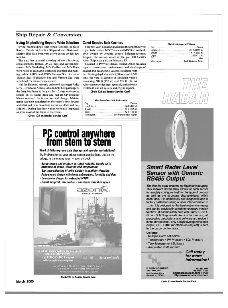 Maritime Reporter Magazine, page 29,  Mar 2000 Massachusetts