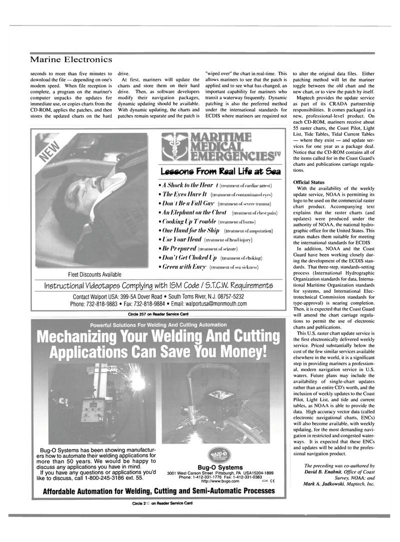 Maritime Reporter Magazine, page 36,  Mar 2000 Mark A. Jadkowski