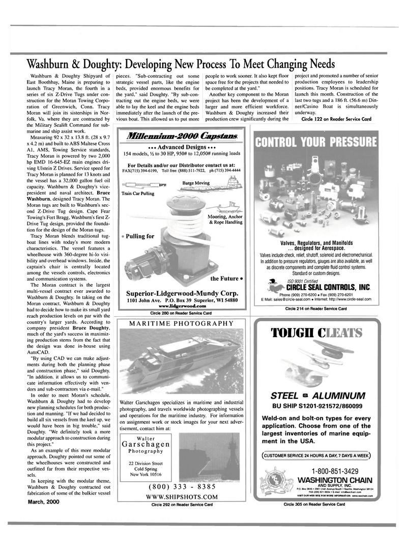 Maritime Reporter Magazine, page 49,  Mar 2000 Washington