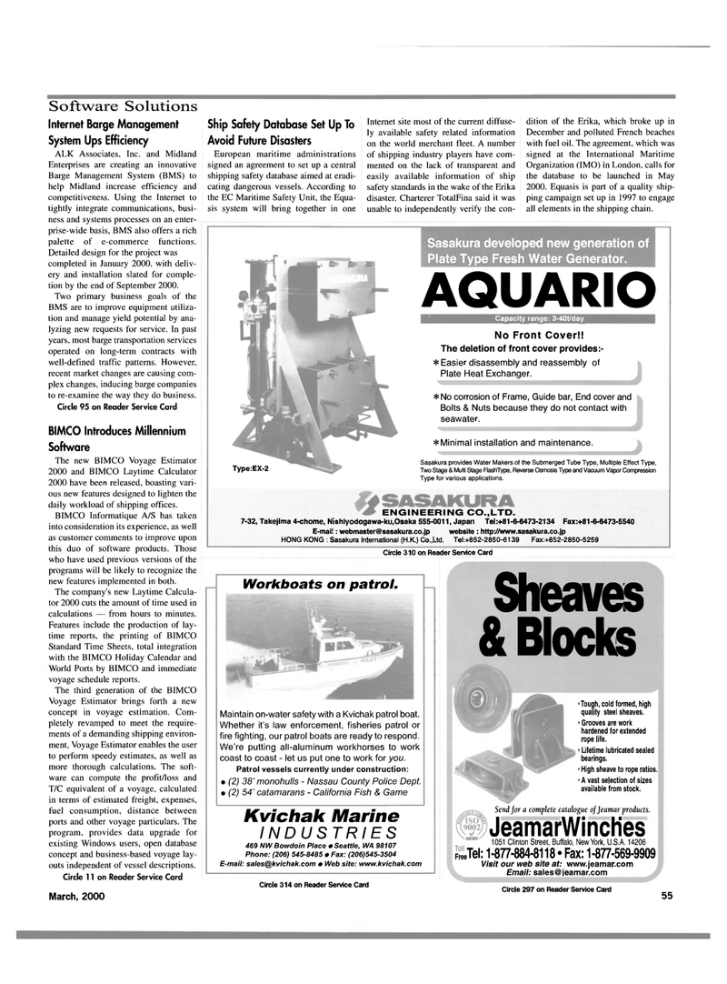 Maritime Reporter Magazine, page 55,  Mar 2000