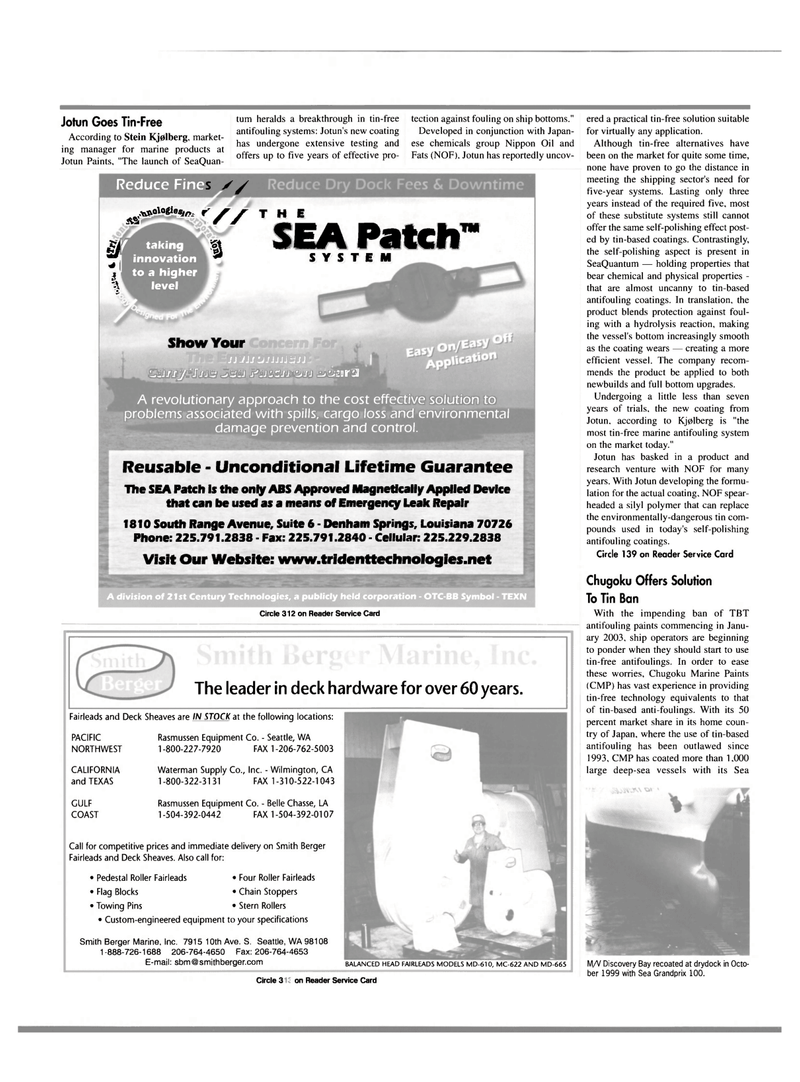 Maritime Reporter Magazine, page 3rd Cover,  Mar 2000 Washington