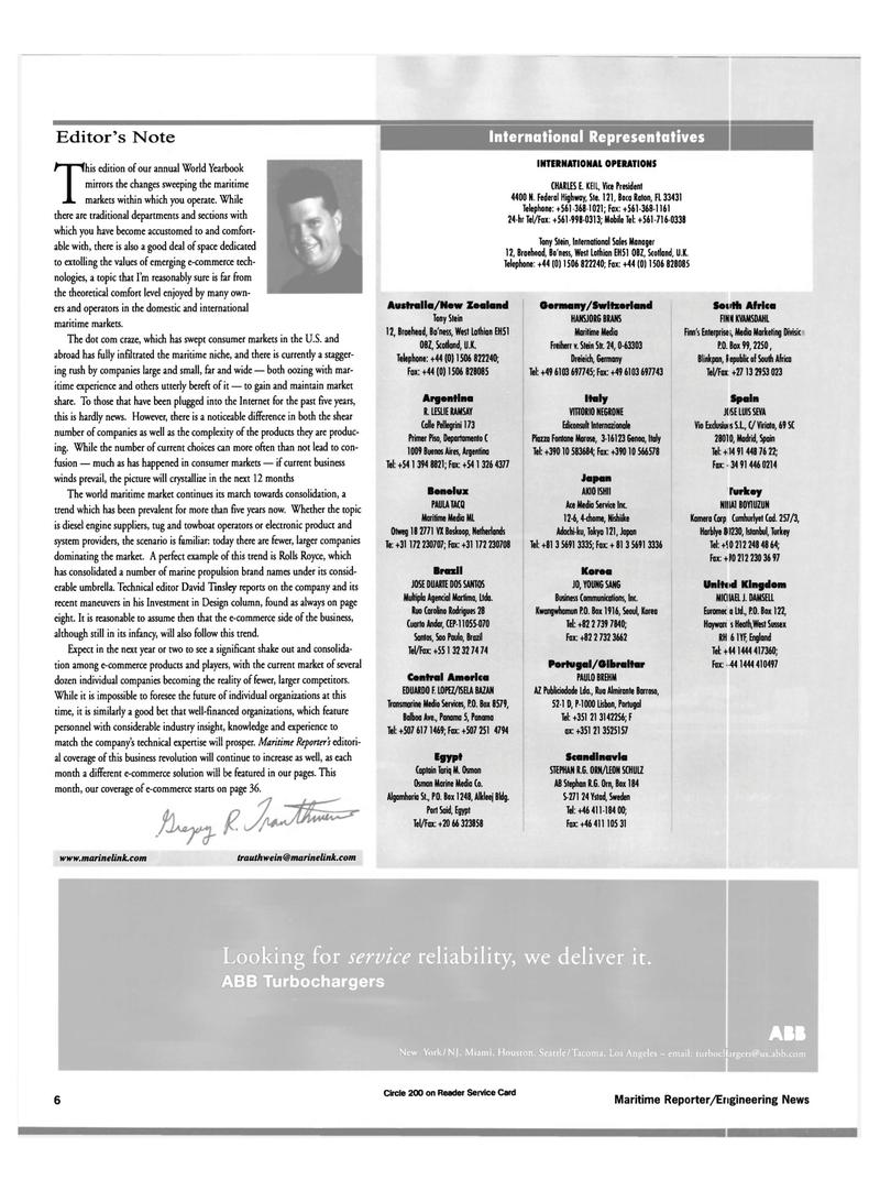 Maritime Reporter Magazine, page 6,  Jun 15, 2000 Central America