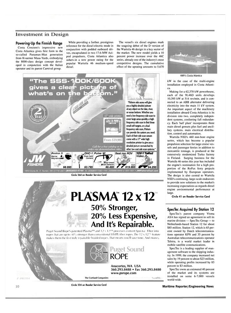 Maritime Reporter Magazine, page 10,  Oct 2000
