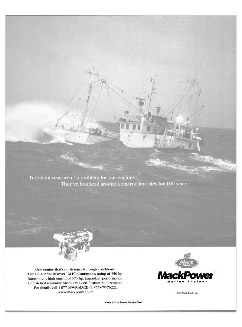 Maritime Reporter Magazine, page 11,  Oct 2000 Mack Trucks