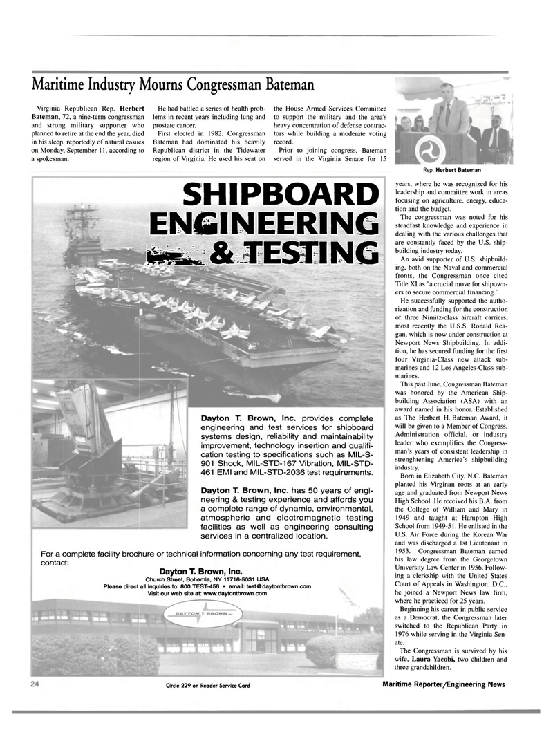 Maritime Reporter Magazine, page 24,  Oct 2000 Georgetown University Law Center