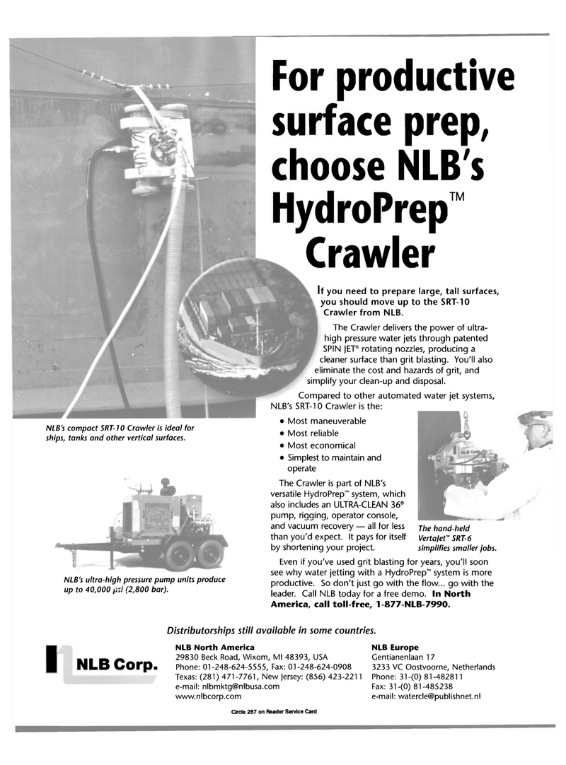 Maritime Reporter Magazine, page 32,  Oct 2000 HydroPrep