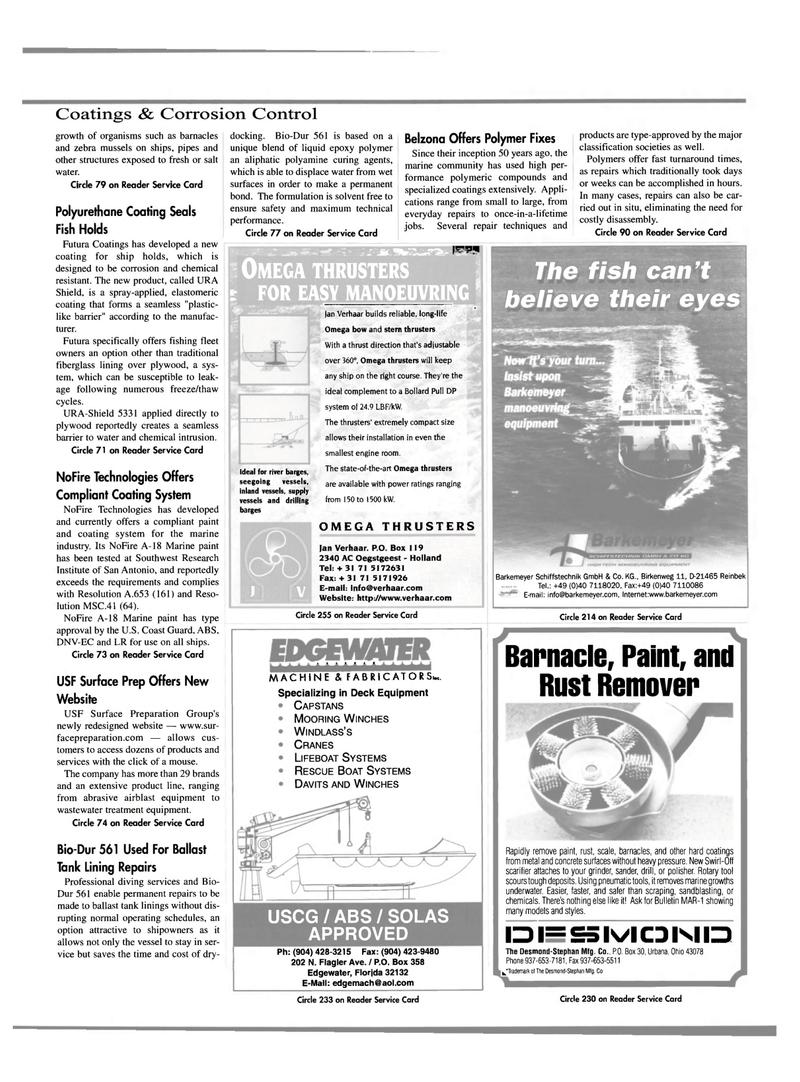 Maritime Reporter Magazine, page 37,  Oct 2000