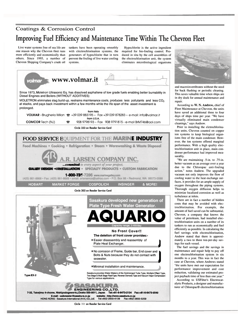 Maritime Reporter Magazine, page 38,  Oct 2000 water systems