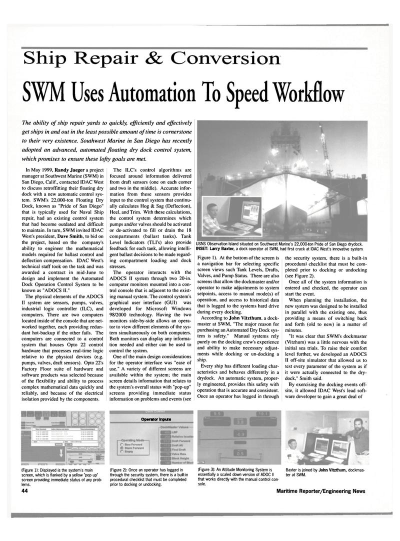 Maritime Reporter Magazine, page 46,  Oct 2000 98/2000 technology