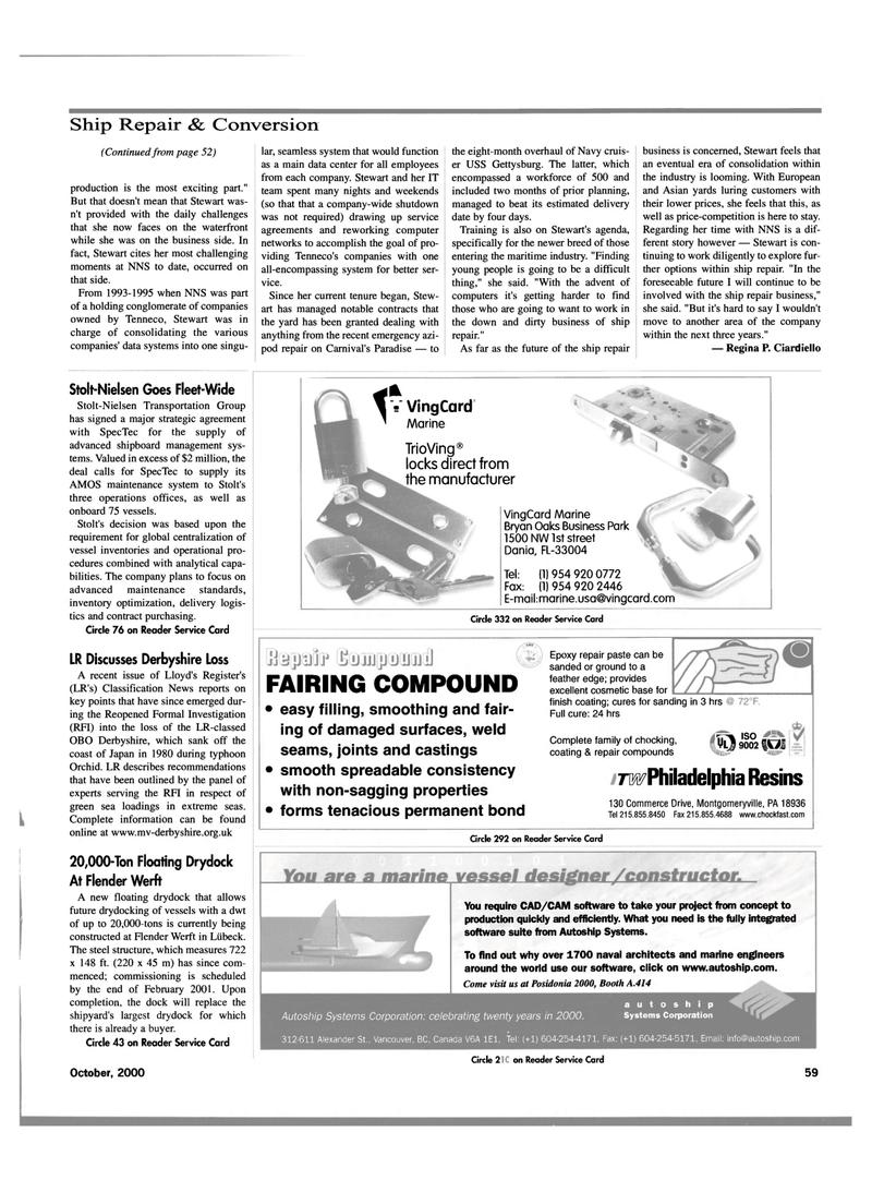 Maritime Reporter Magazine, page 61,  Oct 2000 Pennsylvania