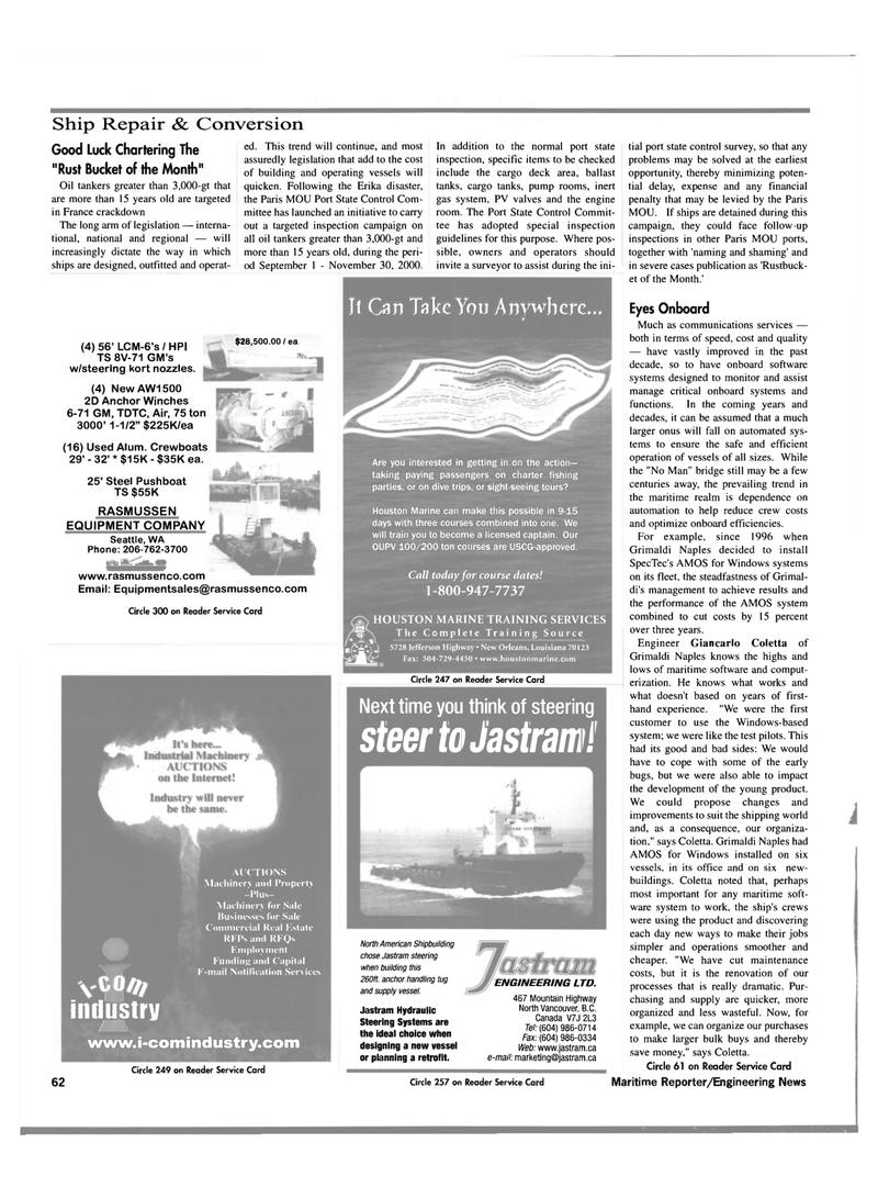 Maritime Reporter Magazine, page 64,  Oct 2000 Louisiana