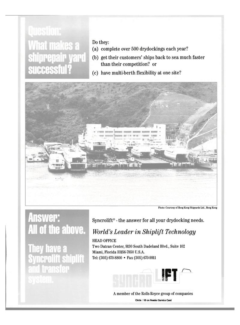 Maritime Reporter Magazine, page 65,  Oct 2000