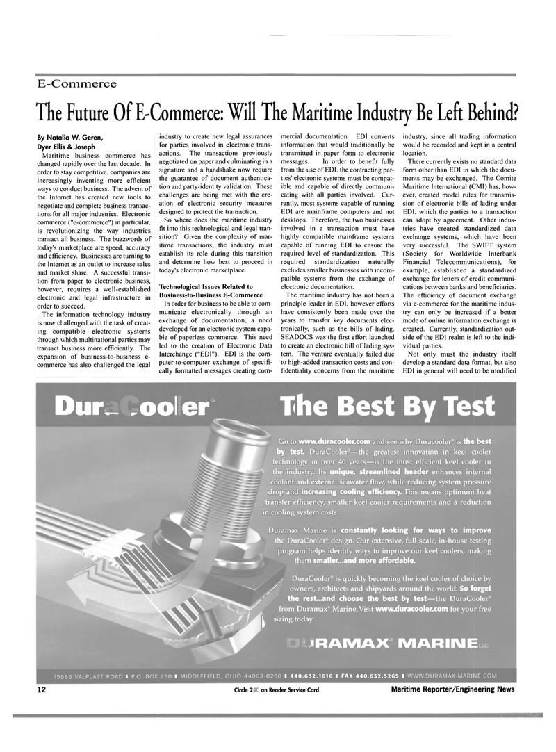 Maritime Reporter Magazine, page 14,  Nov 2000